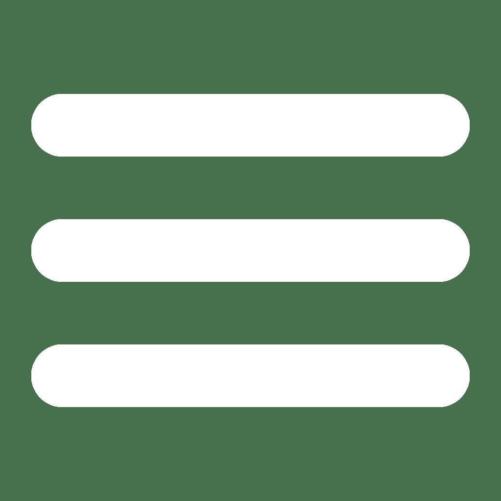burger icon white