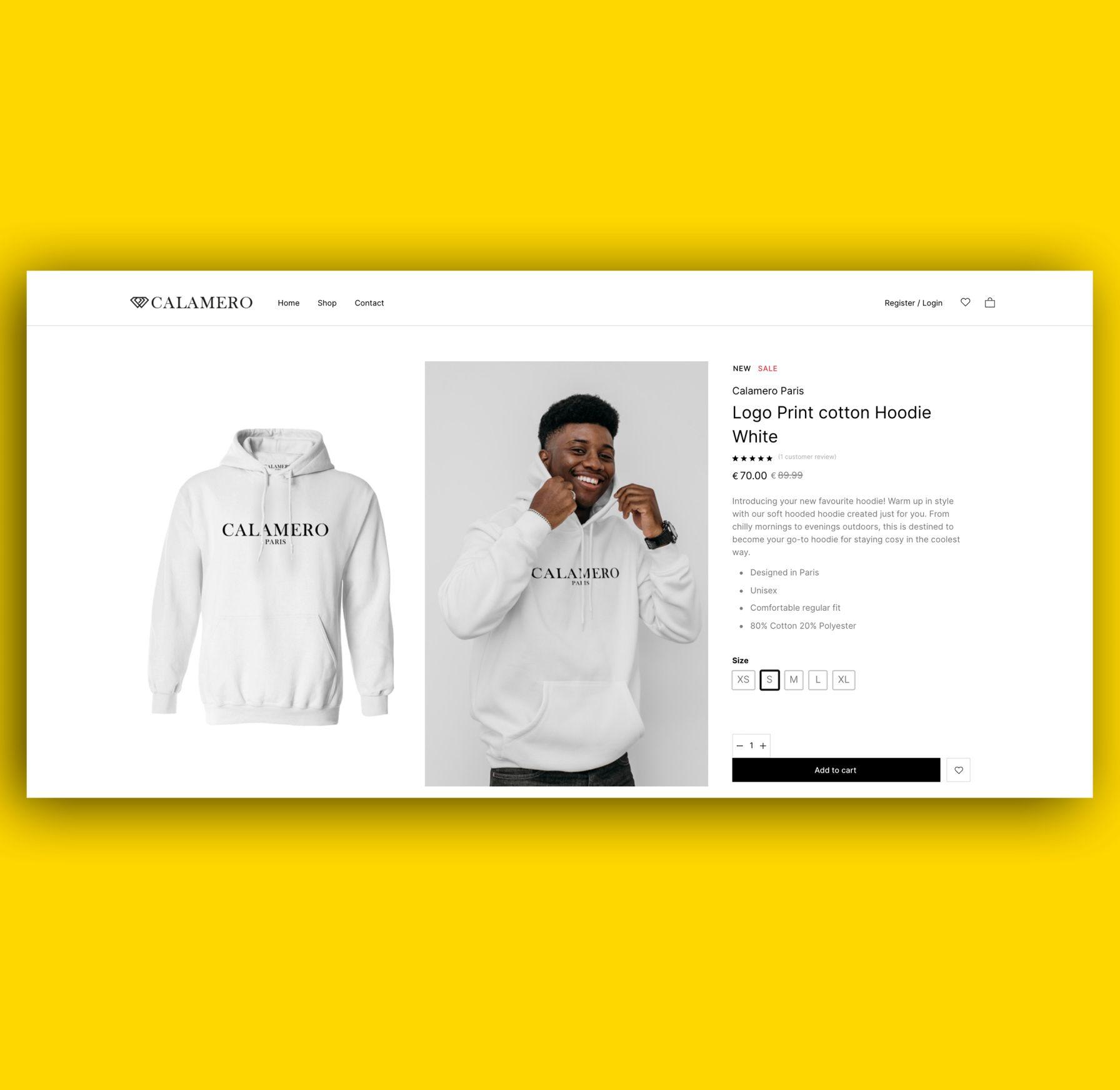 calamero cotton hoodie