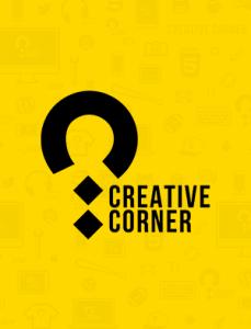 creative corner logo geel zwart